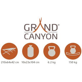 Grand Canyon Alu Camping Bed - Camas - Extra Strong L Oliva